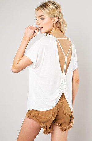 Caged Back Trapeze Top
