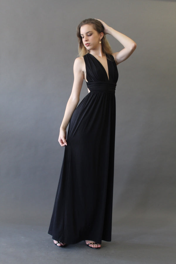 Criss Cross Open Back Maxi Dress