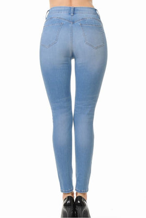 Push-Up High-Rise Skinny Jean