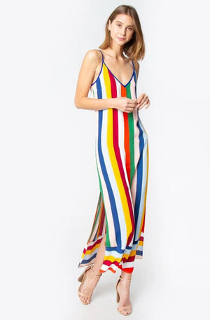 Amelia Striped Slip Dress