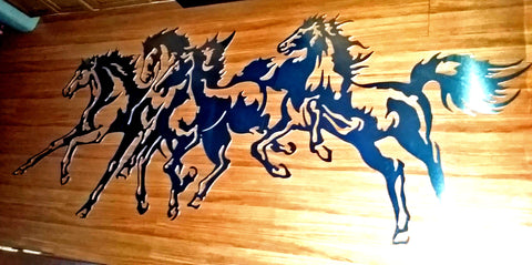 Horses Metal Artwork
