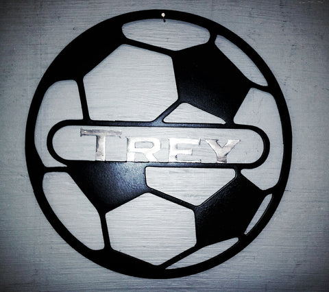 Custom Name on Soccer Ball
