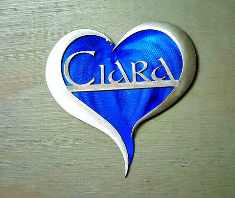 Custom Name on Heart