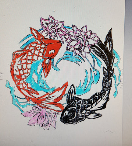 Metal Artwork Koi Fish