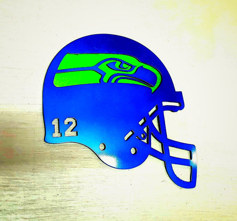 Custom Seattle Seahawks Helmet