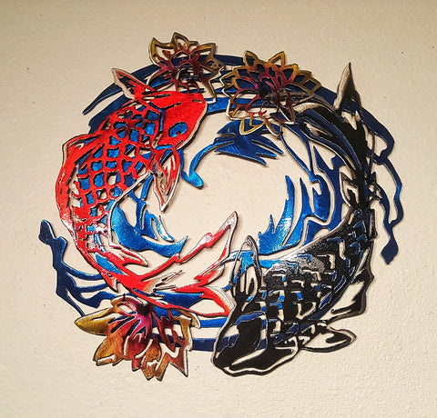 Custom Koi Fish Metal Artwork