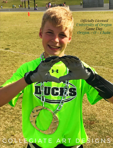 Ducks Football California Youth Team O Chain Diamond Plate
