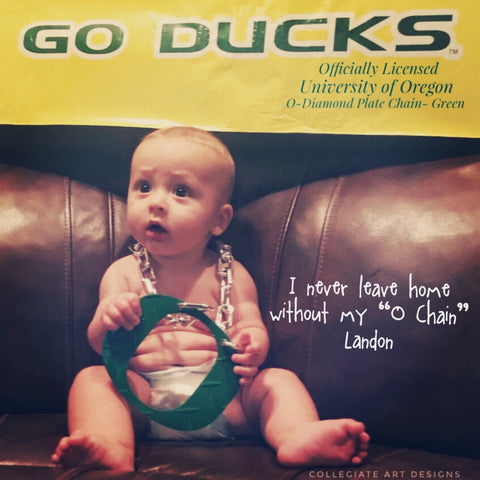 O Chain Green Baby Representing Oregon