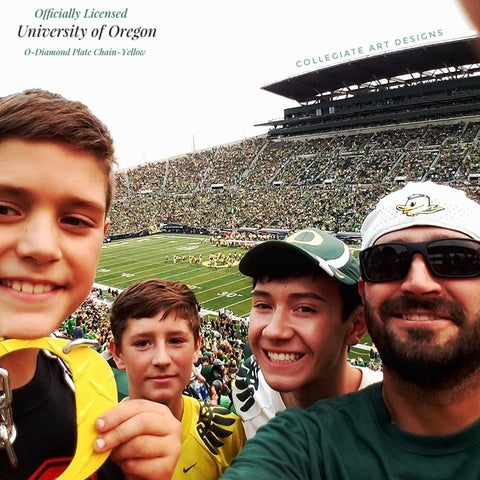 Bennett Fam O Chain Yellow Oregon Ducks Game
