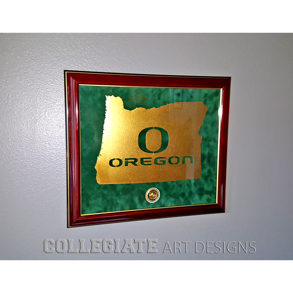 O-Oregon In Oregon - 24K Gold - Framed Wall Art