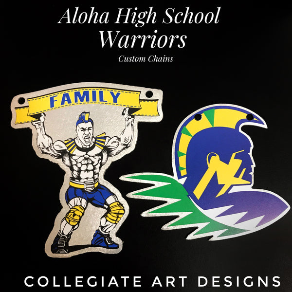 Custom Aloha HS Football Chains