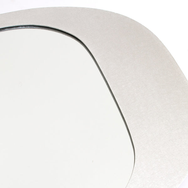 O - Brushed Aluminum Mirror - Wall Art