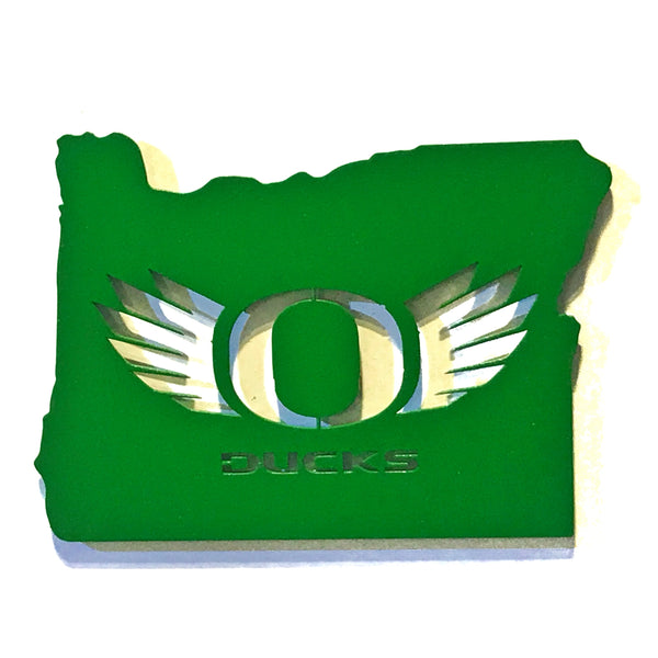 O-Wings In Oregon - Green - Magnet
