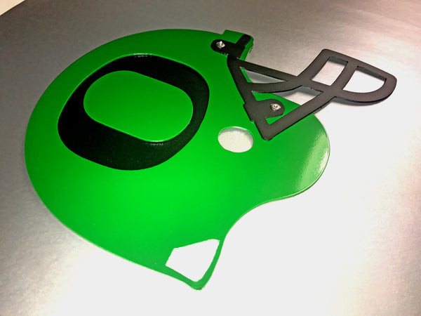 O Helmet - Green on Black - Wall Art