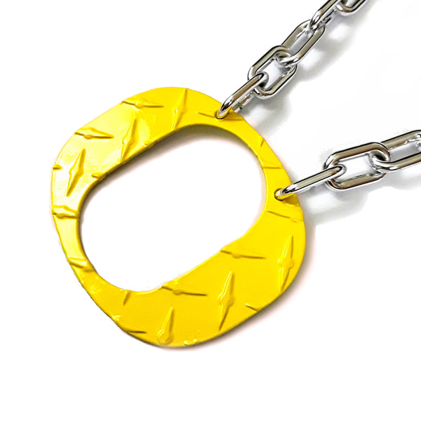 O Chain - Large Yellow Ducks O Diamond Plate - O Necklace