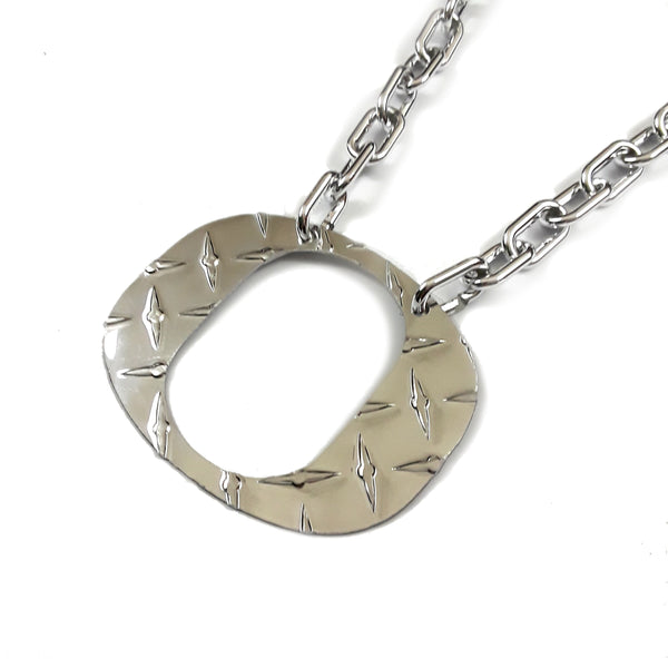 O Chain - Large Chrome Diamond Plate - O Necklace