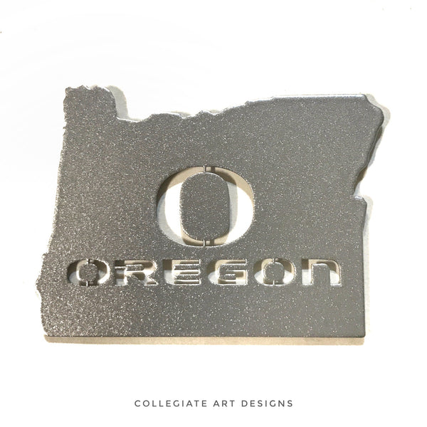 O-Oregon In Oregon - Silver - Magnet
