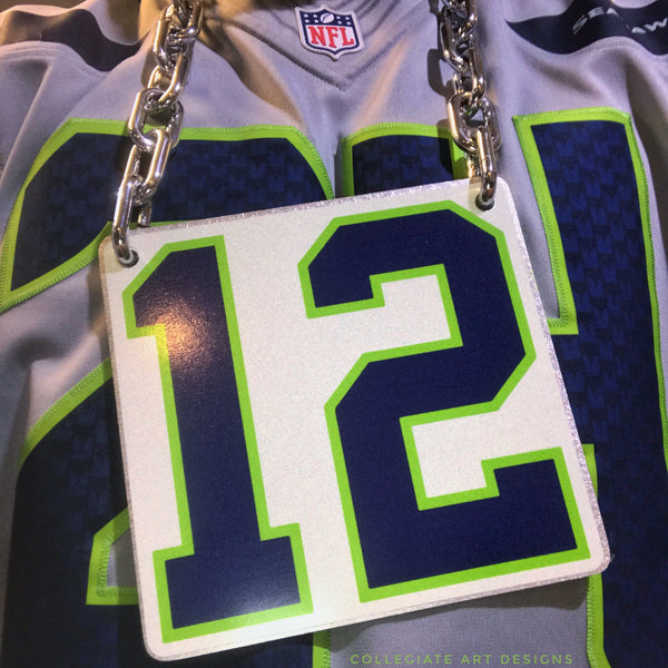 Custom Seattle Seahawks 12 Game Day  Chain