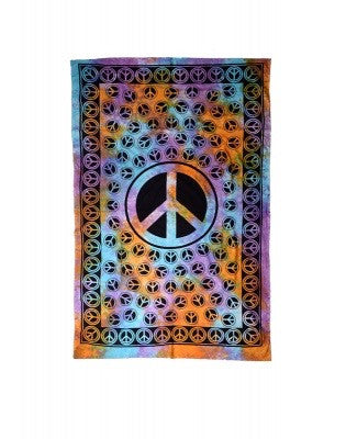 Tapestry-Multi Peace Signs