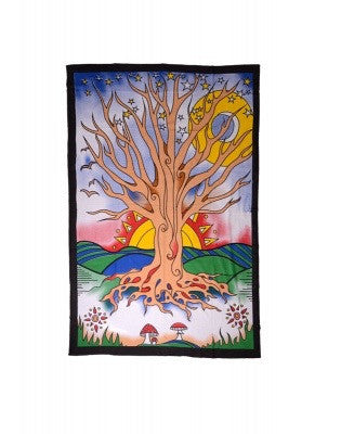 Tapestry-Tree with Rising Sun