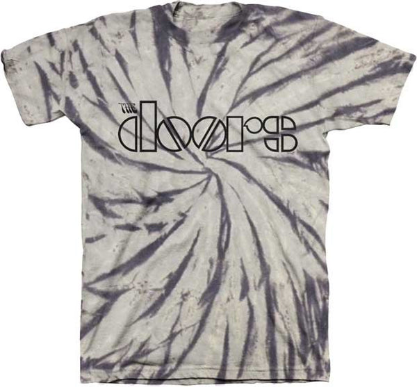 The Doors Spiral Tie Dye T-shirt in Grey