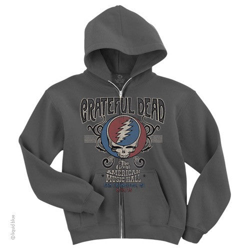 Grateful Dead American Music Hall Hoody With Zipper