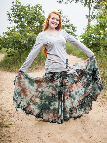 Tie Dye Hippy Spinner Skirt