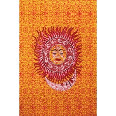Tapestry-3D Buddha Sun and Moon