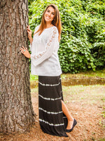 Maxi Skirt with Summer Stripe