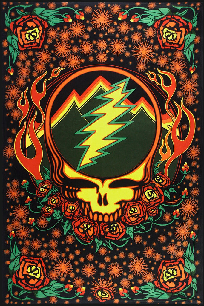Grateful Dead SYF Scarlet Fire 3D Tapestry