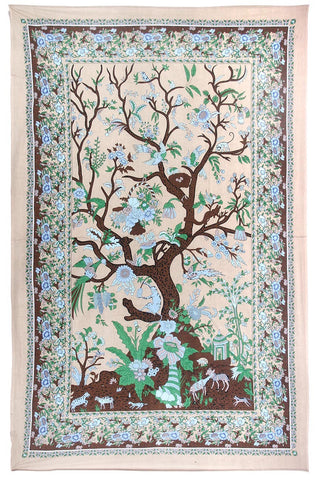 Earth Colors Tree of Life Tapestry