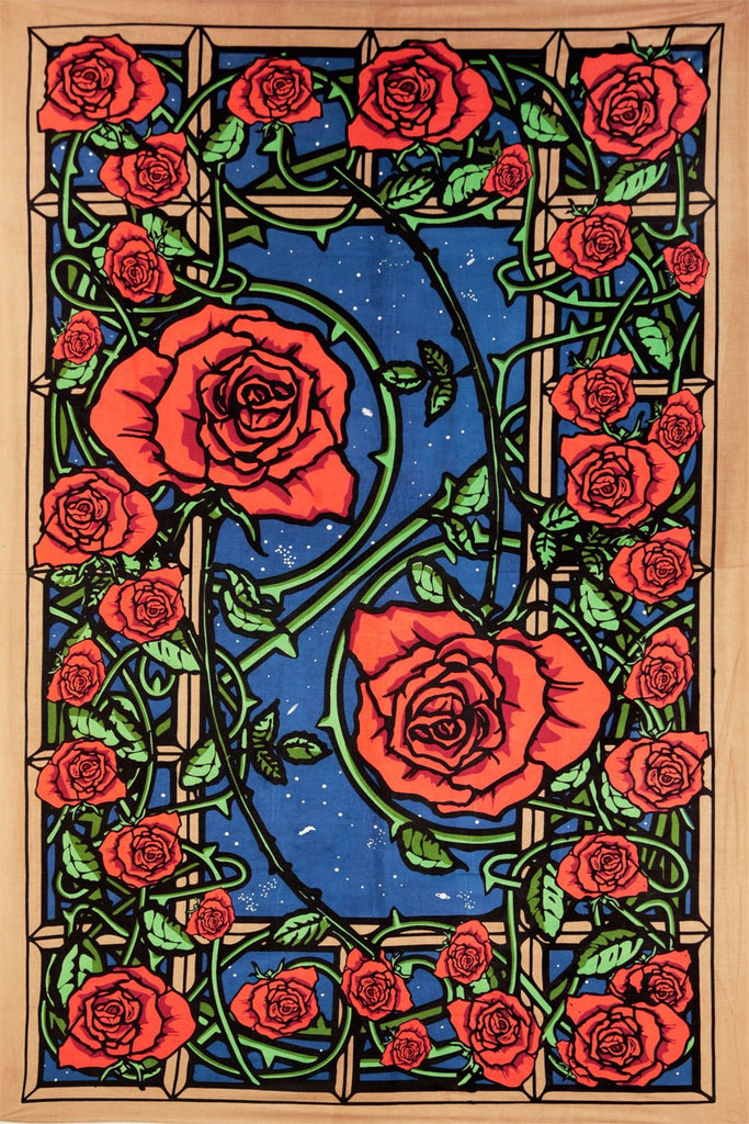Tapestry- 3D Window with Roses