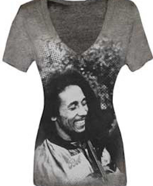 Ladies Bob Marley V-neck Ladies T-shirt