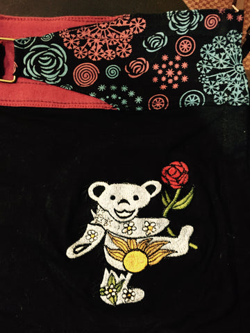 Grateful Dead Dancing Bear Adjustable Mini Skirt
