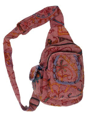 Acid Wash Mini Sling Backpack