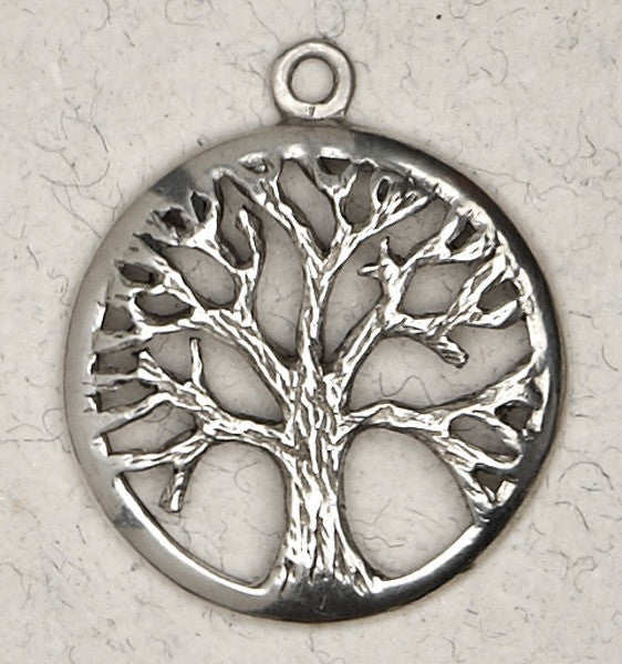 "Tree of Life Pewter Necklace on 33"" chord"