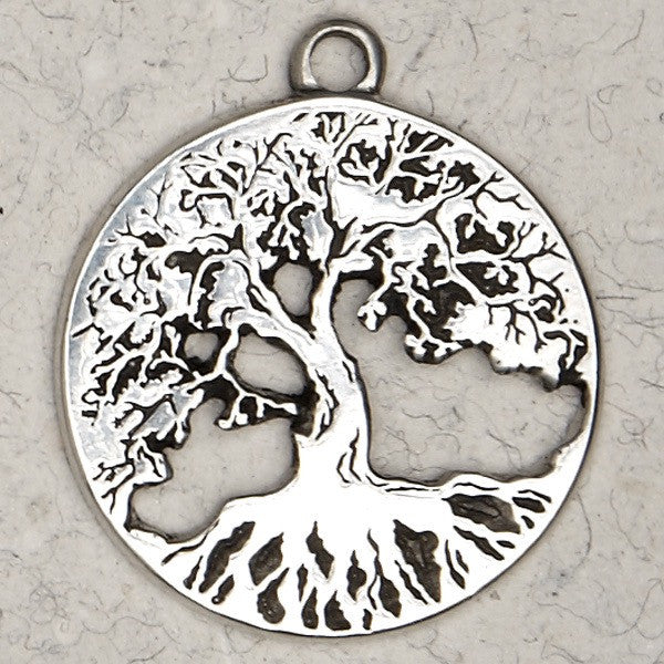 Tree of Life Pewter  Necklace From The Hebrew Collection