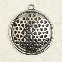 "Flower of Life Pewter Pendent on 33"" Chord"