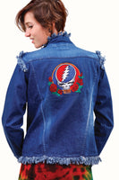 Grateful Dead Fringe Ladies Denim Jacket