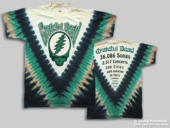 Grateful Dead Countdown  TieDyed T-shirt