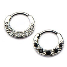 Septum Clicker  or Daith Jewelry With 3 CZ Gems