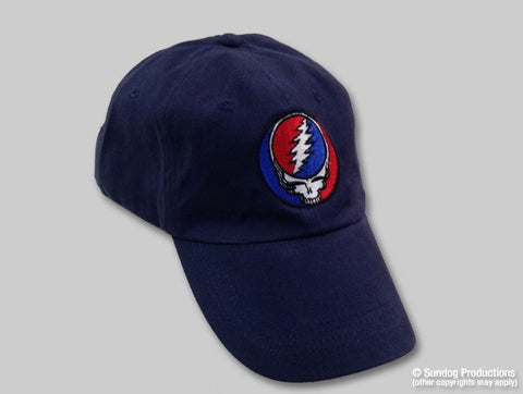 Grateful Dead Steal Your Face on a Navy Baseball Hat