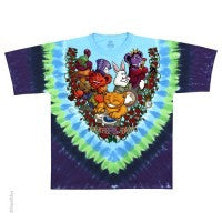 Grateful Dead Wonderland Jam Band Tie Dye Tee