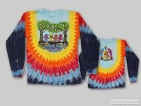 Grateful Dead Wood Bears Long Sleeve TieDye