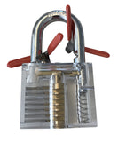 10-piece Spring Steel Padlock Shim Set