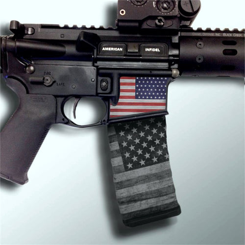 American Flag RWB Right Side Mag Well Slap (1 Per Pack)