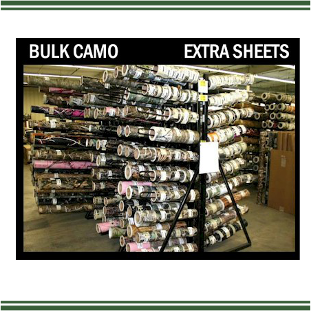 Bulk Camo-P - Sheets and/or Rolls (Permanent Vinyl Only)