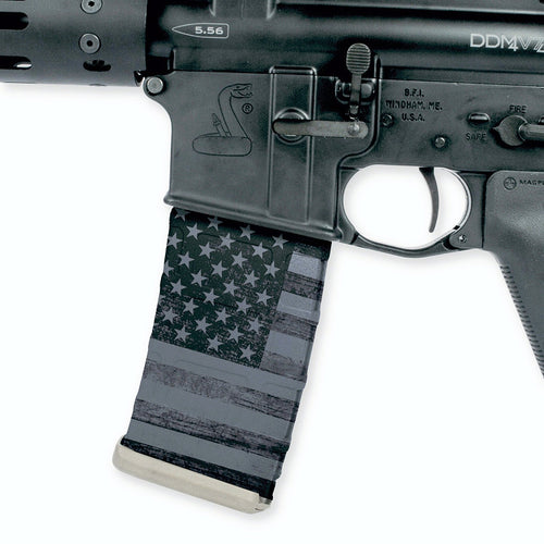 Patriot Stealth Black Flag Mag Wrap (3 Pack)