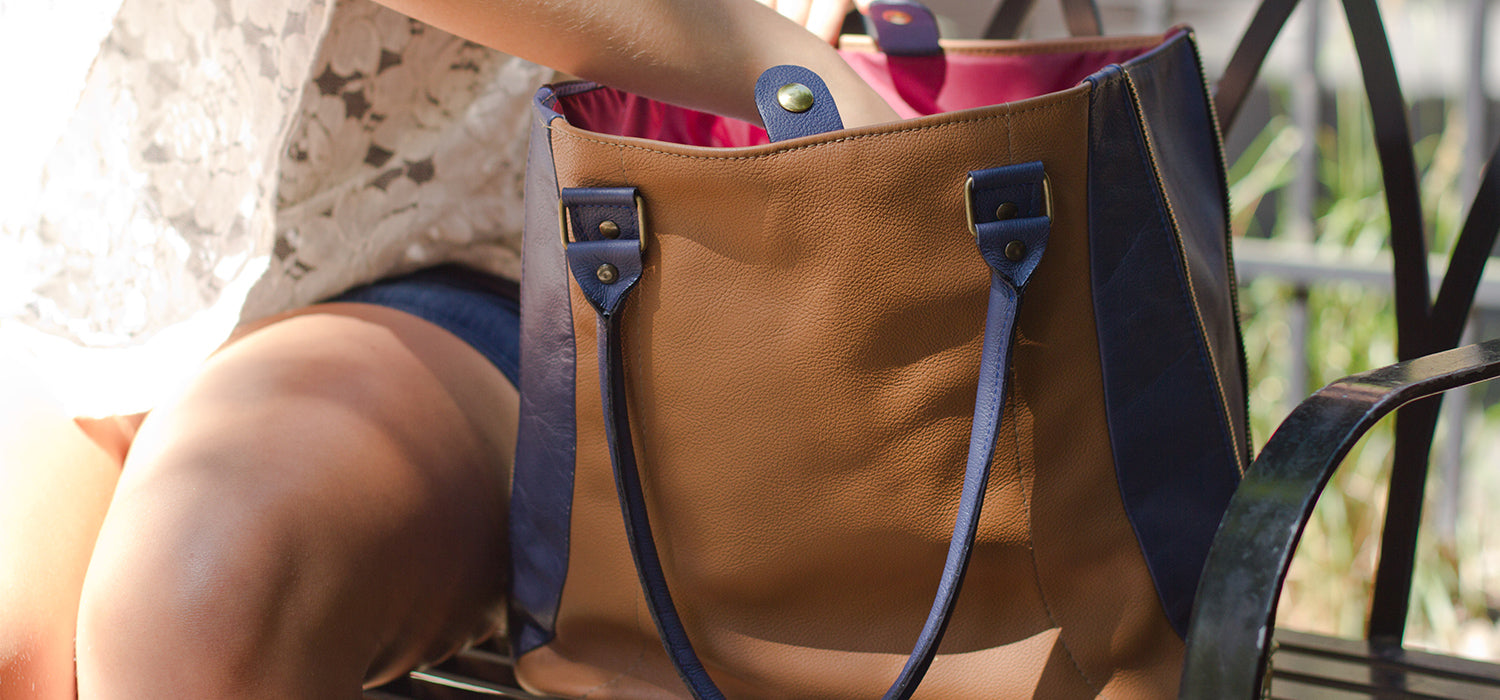 Portland Based Company Used Airline Seat Leather to Create Leather Bags