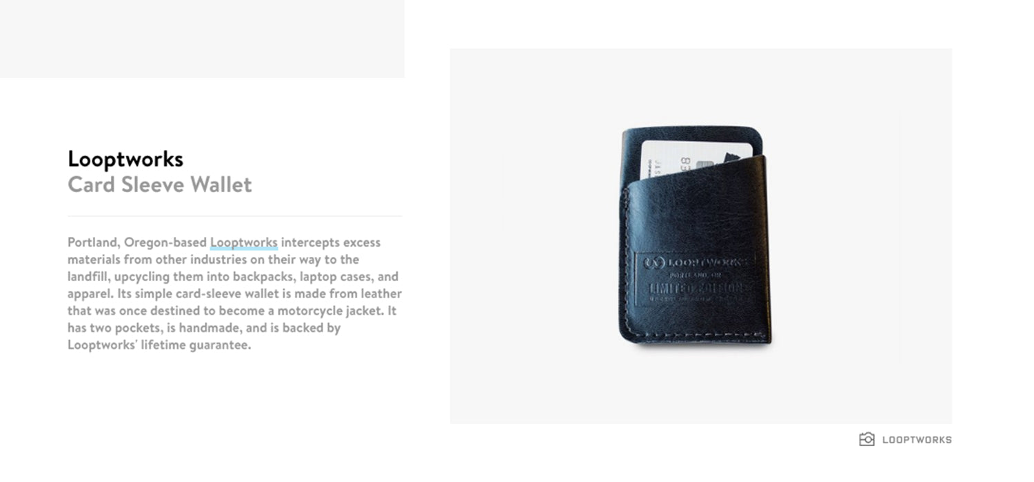 10ae593e706b Featured on Wired  Looptworks Card Sleeve Wallet